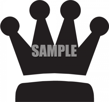 Silhouette of a Crown