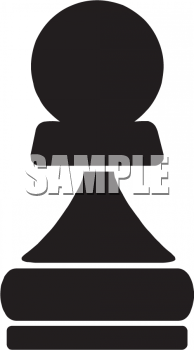 Silhouette of a Pawn Chess Piece