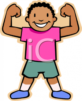 african american boy making muscles royalty free clipart image rh clipartguide com muscles clip art black and white muscle png clipart