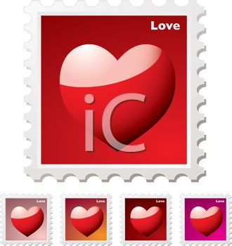Heart Stamps Collection