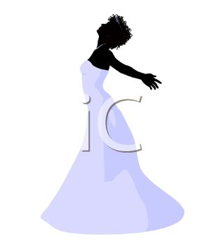 Silhouette of a Joyful Bride