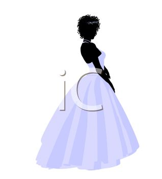 Silhouette of a Bride Posing In Her Wedding Gown