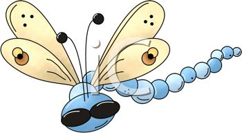 Dragonfly with Big Eyes - Royalty Free Clipart Image