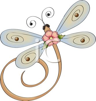 Whimsical Dragonfly with a Flower