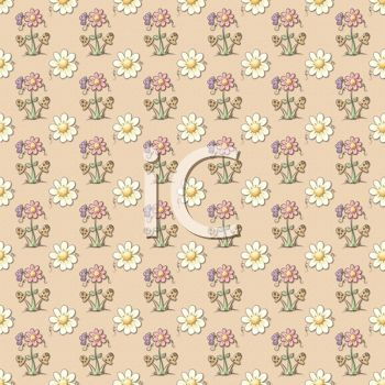 Wildflowers Tiled on a Whimsical Background