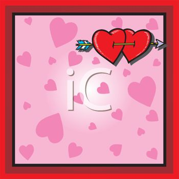 clipart heart with arrow. Clip Art Image Description: