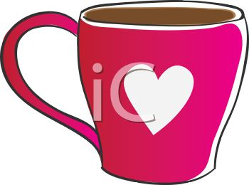 Valentine Coffee Cup Decorated with a Heart