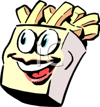 Cartoon of Animated French Fries