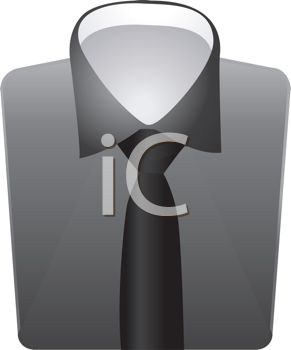 Fashion Design Element of a Shirt with a Knotted Tie
