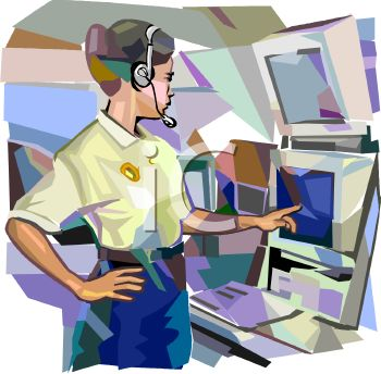 "This ""911 operator"" clipart image is available through a low cost"
