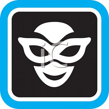Icon for Theater Showing a Face Wearing an Eye Mask