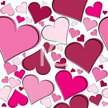 Pink Heart Shapes Background