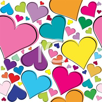 Colorful heart confetti background royalty free clipart image voltagebd Images