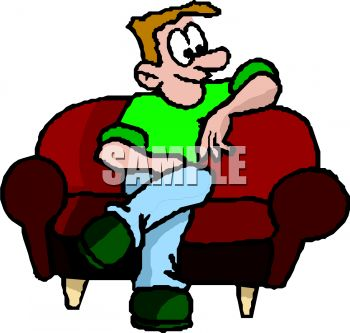 Man Waiting for His Date on a Sofa