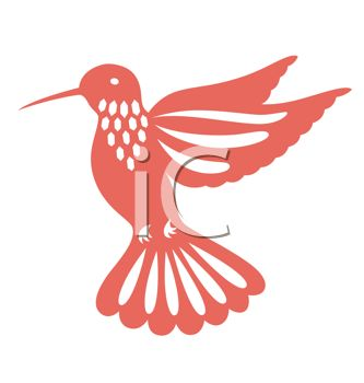 Hummingbird Stencil Design