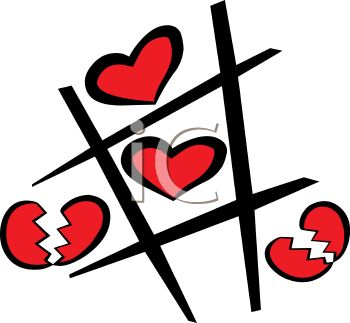 Tic Tac Toe Game with Hearts
