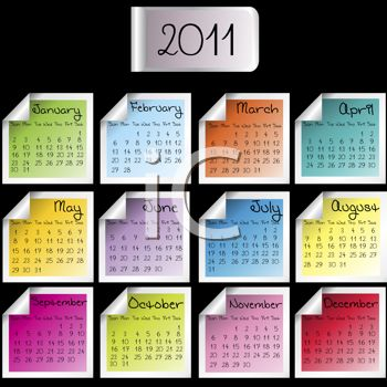Whole Year Calendar for 2011