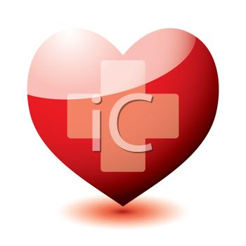 Heart Shape With The Red Cross Symbol Royalty Free Clip Art
