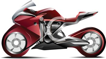 Royalty Free Clipart Image Realistic Red Racing Street Bike