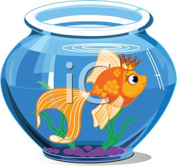 goldfish wearing a crown in a fish bowl royalty free clipart image rh clipartguide com fish bowl clipart free fish bowl with water clipart