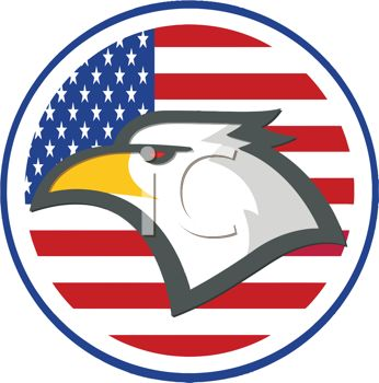 Bald Eagle Patriotic Decal