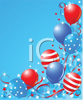 Patriotic Christmas Background.Patriotic Balloons And Confetti Election Background