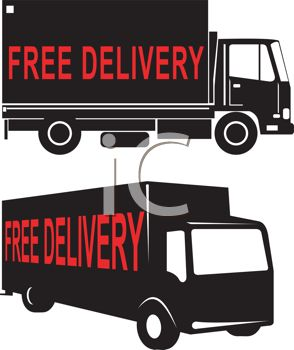 Free Delivery on the Side of Trucks