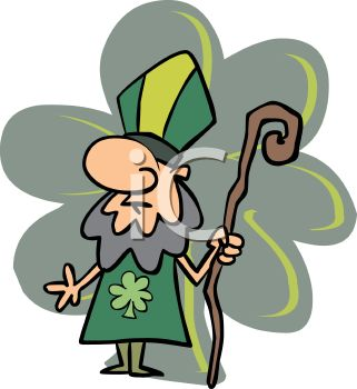 royalty free clipart image cartoon of saint patrick holding a staff rh clipartguide com staff room clipart staff clipart black and white