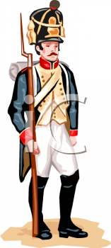 Blue Coat Soldier with a Bayonet