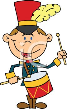 Cute Cartoon of a Drum Major in a Marching Band