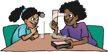 Ethnic Woman Using Flash Cards to Help Her Daughter Learn