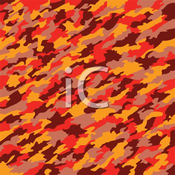 Orange Camouflage Pattern Background