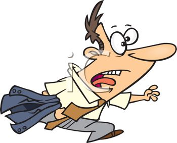 cartoon of a running man late for work royalty free clip art image rh clipartguide com word cliparts work clip art funny