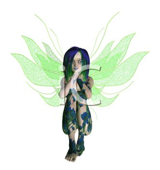 Young Flower Faerie Tattooed with Floral Designs