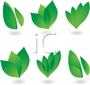 Collection of Green Leaf Elements
