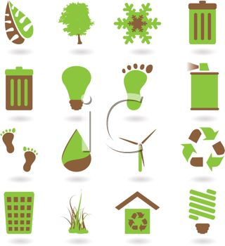 Collection of Environmental Awareness Icons