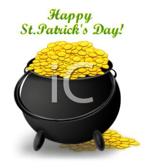 happy st patrick s day pot of gold royalty free clipart picture rh clipartguide com pot of gold clipart images pot of gold clipart free