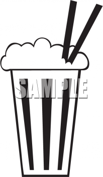 Black and White Milkshake Icon