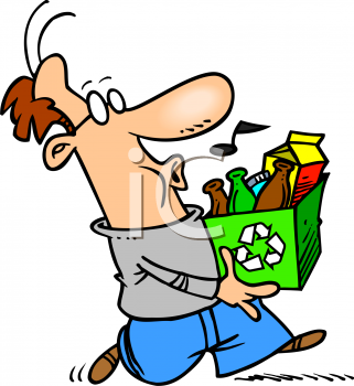 Whistling Man Taking His Recycling Out