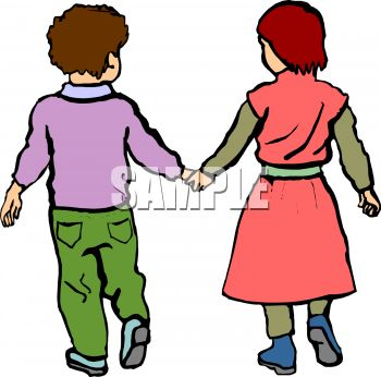 little kids holding hands royalty free clip art illustration rh clipartguide com