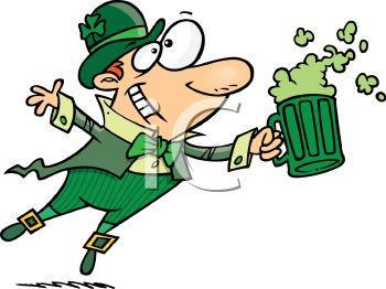 Happy Drunken Leprechaun