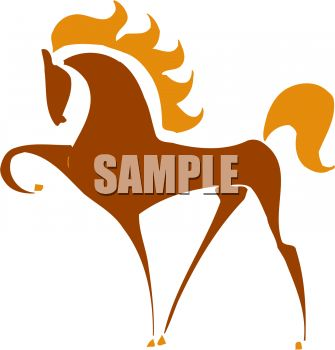 Sylized Horse Silhouette