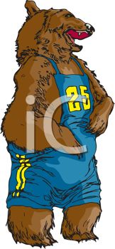 Grizzly Bear Team Mascot