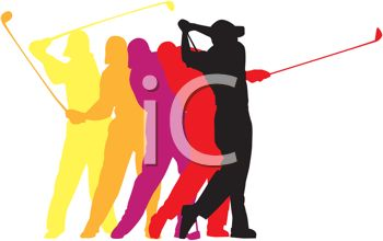 Golf Poses in a Logo Design for Sports