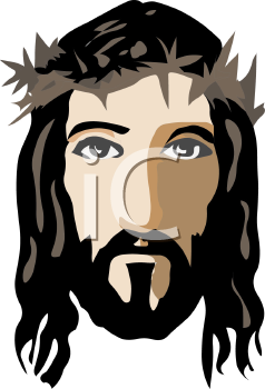 Face of Christ with a Crown of Thorns