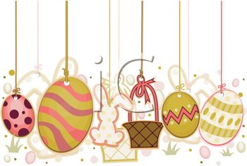 Easter Ornaments for Decorating - Royalty Free Clipart Image