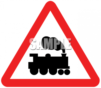 Train Symbol on a Road Sign