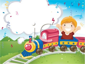 Boy Riding a Miniature Train at a Train Park