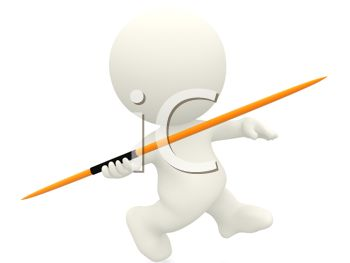3D Character Throwing a Javelin
