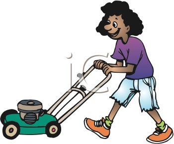 african american teen girl mowing grass royalty free clip art picture rh clipartguide com moving clipart moving clip art animations